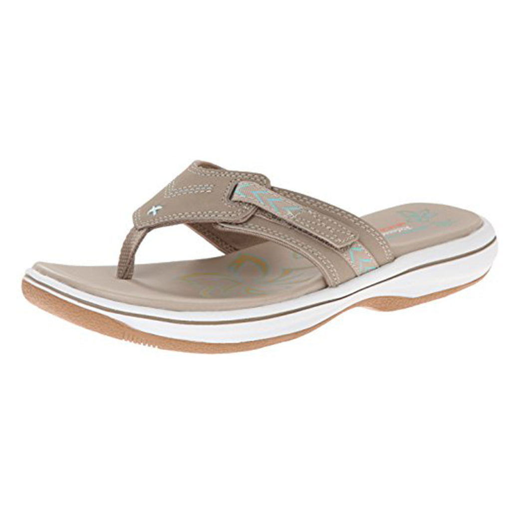 New Women's Sandals Skechers RELAXED FIT BAYSHORE Memory Foam Taupe - brand-new-original Shoes & Caps