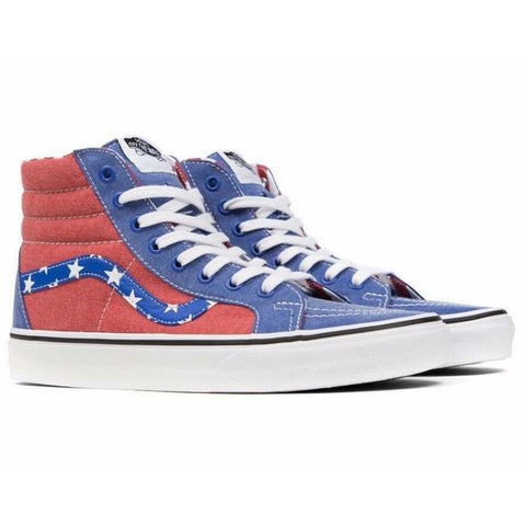 New Original Mens Sneaker Vans Sk8-Hi Reissue Van Doren Stars Red / Blue - brand-new-original Shoes & Caps