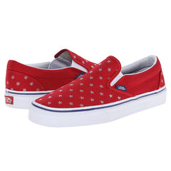 New Originals Unisex Sneaker Vans Classic Slip-On Studded Stars Red / Blue - brand-new-original Shoes & Caps