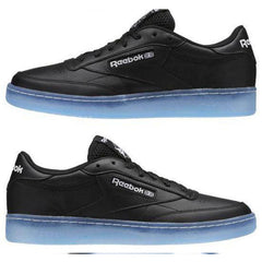 New Men's Sneakers Shoes Reebok Retro Club C 85 ICE Classic Black / Blue - brand-new-original Shoes & Caps