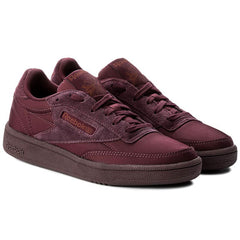 New Women's Classic Reebok Shoes Club C 85 Soft Red Sneakers - brand-new-original Shoes & Caps