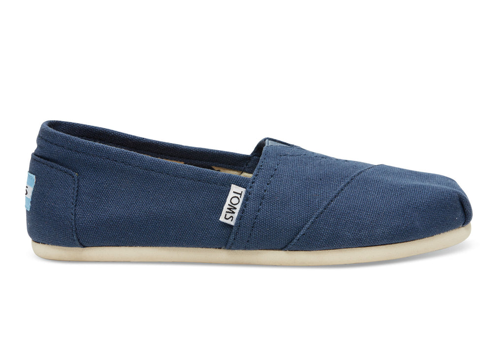 New Slip-ons TOMS Navy Canvas Women's Classics - brand-new-original Shoes & Caps