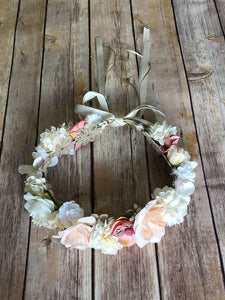 The Monterrey flower girl wreath