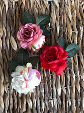 Load image into Gallery viewer, The Havana Silk Flower Pins