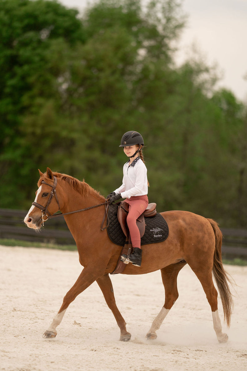 Kids Define Full Seat Legging in Rosewood