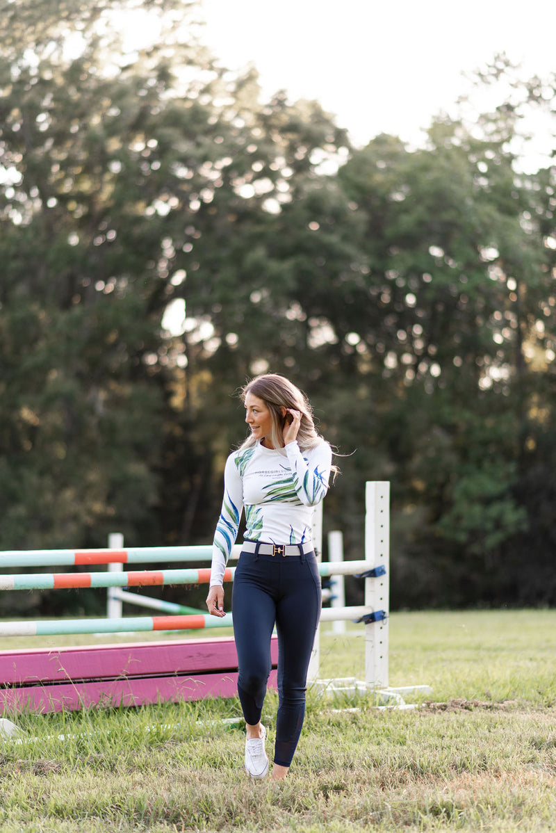 Lux Hybrid Full Seat Breech in Navy