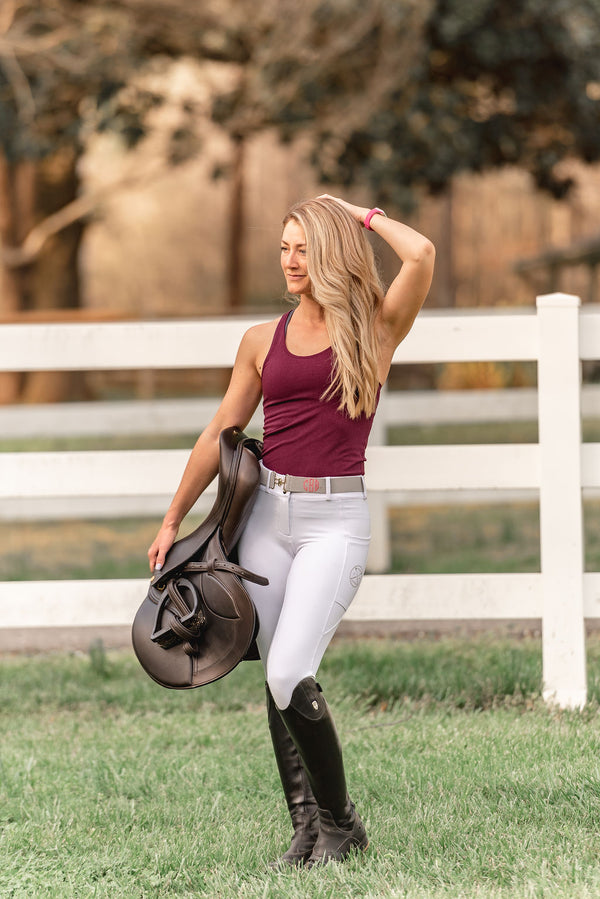 Lux' Full Seat Show Breech in White