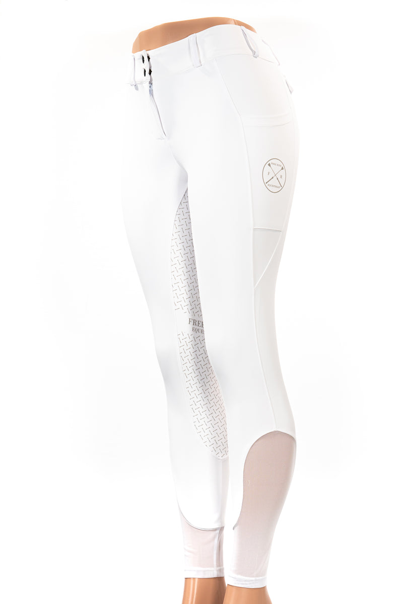 Lux' Full Seat Show Breech in White , XL