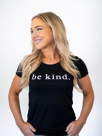 Be Kind Tee - Pink Horseshoe