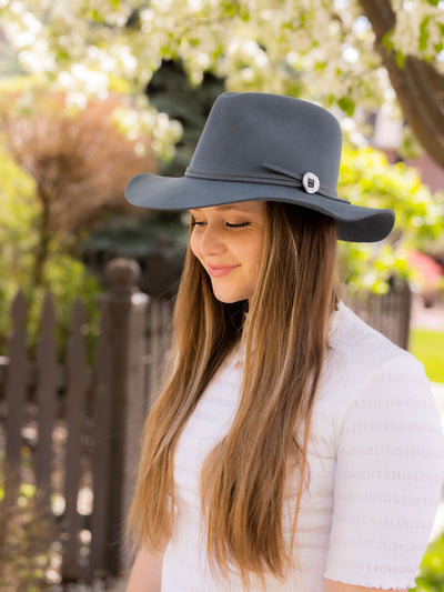 Brogan Bluestone Hat - Pink Horseshoe