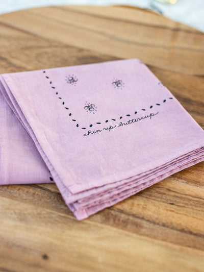 Chin Up Buttercup Bandana - Pink Horseshoe