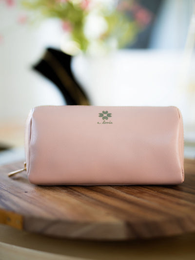 Elle Cosmetic Bag - Pink Horseshoe