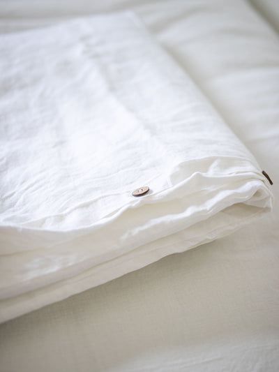 Linen Duvet Cover for the Willow Weighted Blanket - Pink Horseshoe