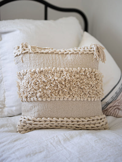 Meraki Tassel Pillow - Pink Horseshoe