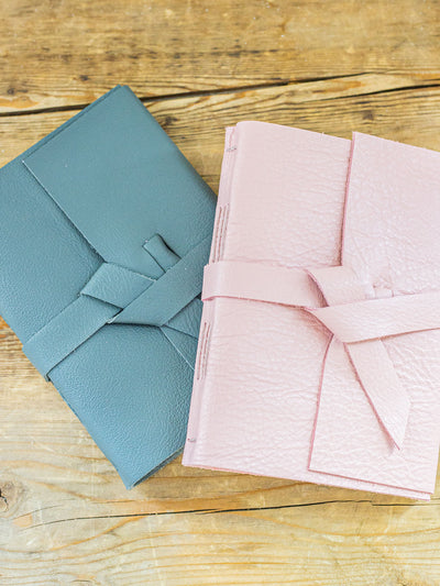 Nala Soft Leather Notebook - Pink Horseshoe