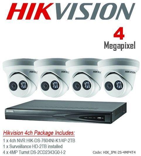 Hikvision 4MP IP Packages