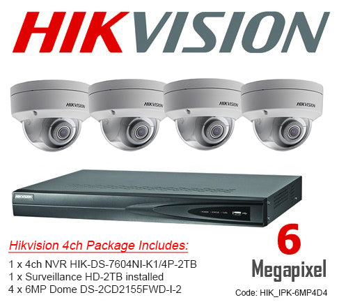 Hikvision 6MP IP Packages