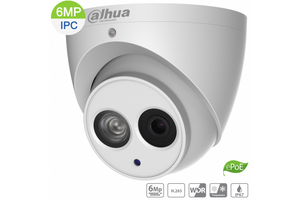Dahua DH-IPC-HDW4631EMP-ASE-0280B 6MP IP Turret Fixed 2.8mm,Built-in Mic, IR 50m, ,ePOE