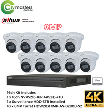 Load image into Gallery viewer, 8MP DAHUA 16CH IP TURRET BUNDLE KIT