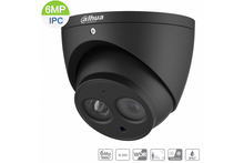 Load image into Gallery viewer, Dahua 6MP H.265 IP Black Turret Fixed 2.8mm, Built-in Mic