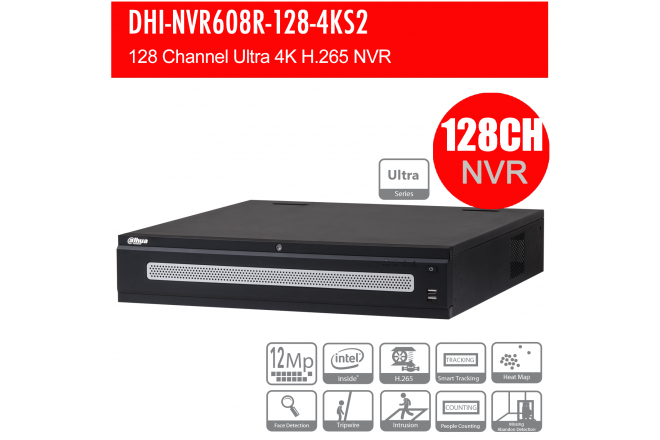 Dahua 128CH Ultra NVR 12MP, 2x HDMI 4K NO HDD