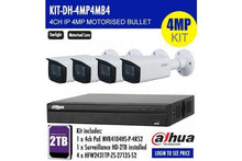 Load image into Gallery viewer, DAHUA 4MP 4CH IP MOTORISED BULLET BUNDLE KIT