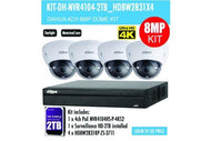 Dahua 4 x 8PM Motorised Dome Kit 4CH NVR + 2TB HDD