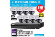 Dahua 8 x 8PM Motorised Dome Kit 8CH NVR + 2TB HDD