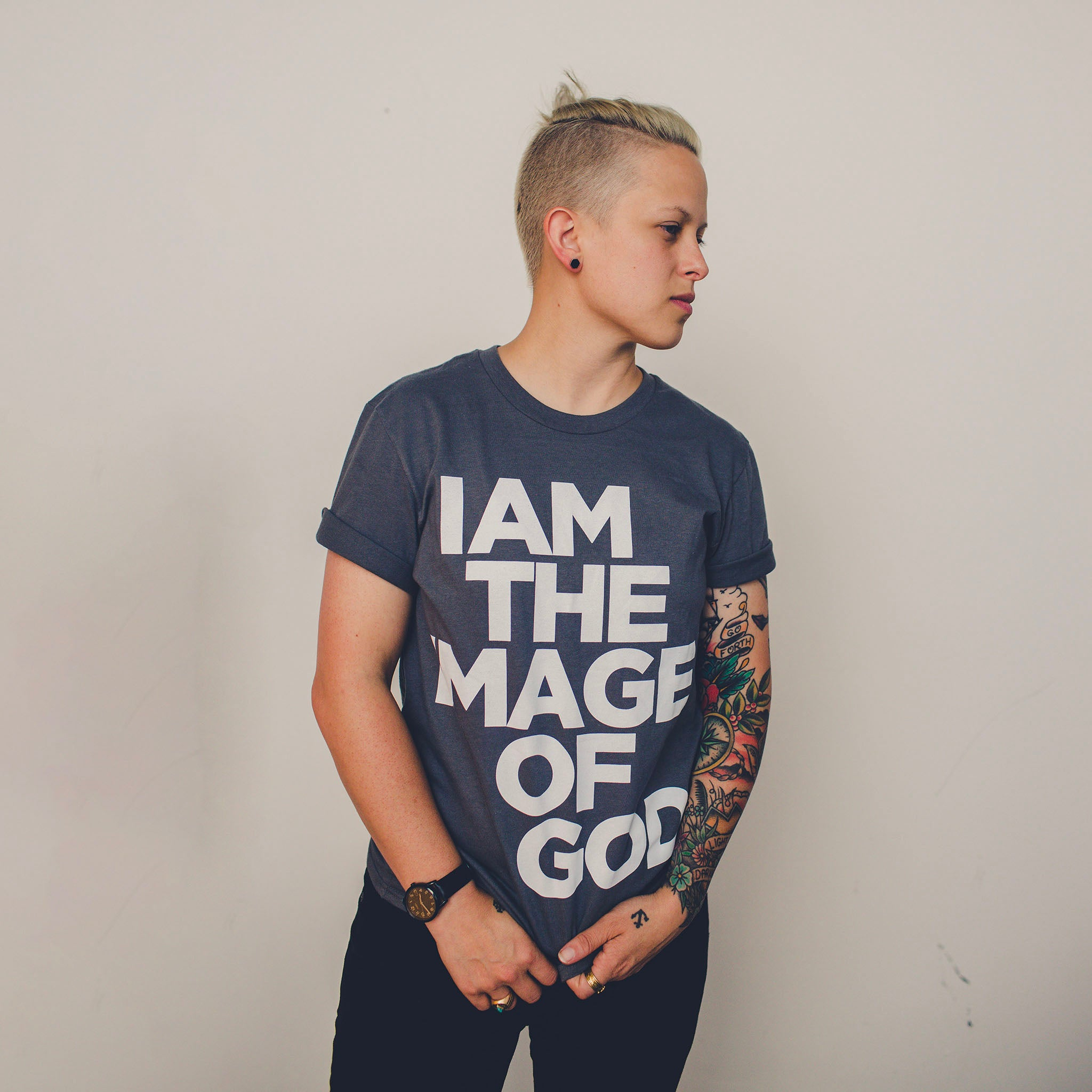 I Am The Image of God Tee - Charcoal