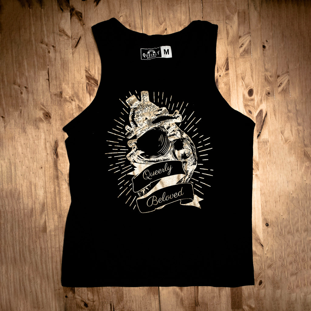 Sacred Heart Tank Top - Gold