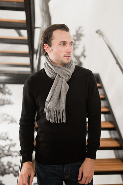 Winston & Co Grey Lambswool Scarf