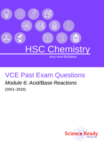 HSC Chemistry Module 6 VCE Past Exam Questions (2001-2018)