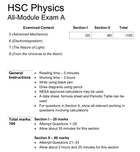 Load image into Gallery viewer, HSC Physics All-Module Practice Exam A (2nd Edition)