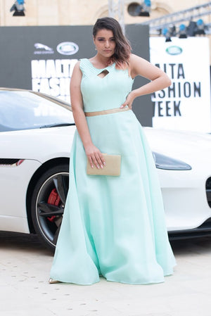 Sleeveless Mint Green Dress
