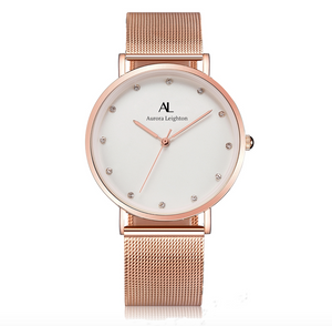 Aurora Classic Rose Gold Watch