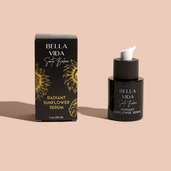 Radiant Sunflower Serum Retinol Cream by Bella Vida Santa Barbara Luxury Clean Skincare Cruelty Free