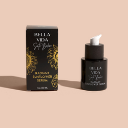 Zero waste refill program on Luxury Natural Skincare by Bella Vida Santa Barbara Radiant Sunflower Serum