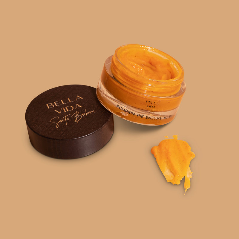Pumpkin Pie Enzyme Face Mask with Glycolic acid by Bella Vida Santa Barbara Luxury clean Skincare beauty cruelty free