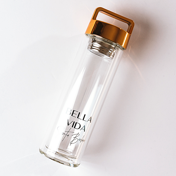 Luxe Glass Infuser Water Bottle
