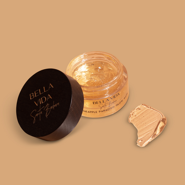 Zero waste refill program on Luxury Natural Skincare by Bella Vida Santa Barbara Pineapple Mask