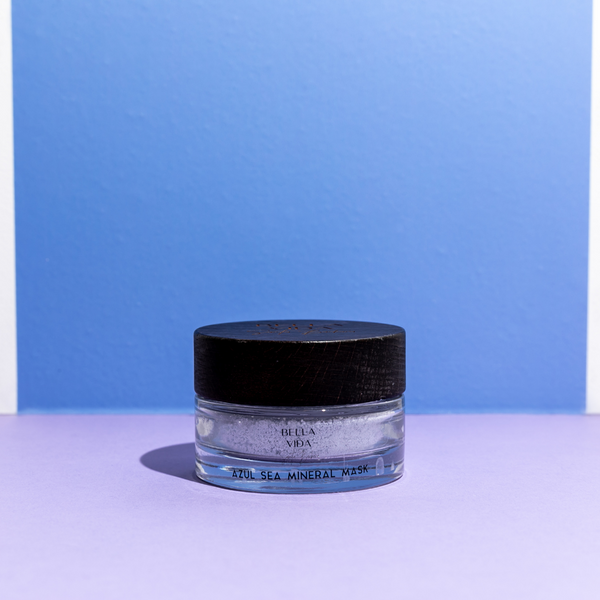 Azul Sea MIneral Powdered Clay Mask by Bella Vida Santa Barbara. Sustainable, Luxury clean skincare.