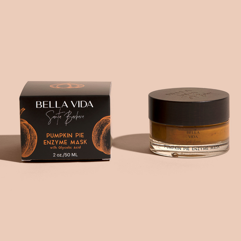 Pumpkin Pie Enzyme Face Mask with Glycolic acid by Bella Vida Santa Barbara Luxury clean Skincare beauty cruelty free texture