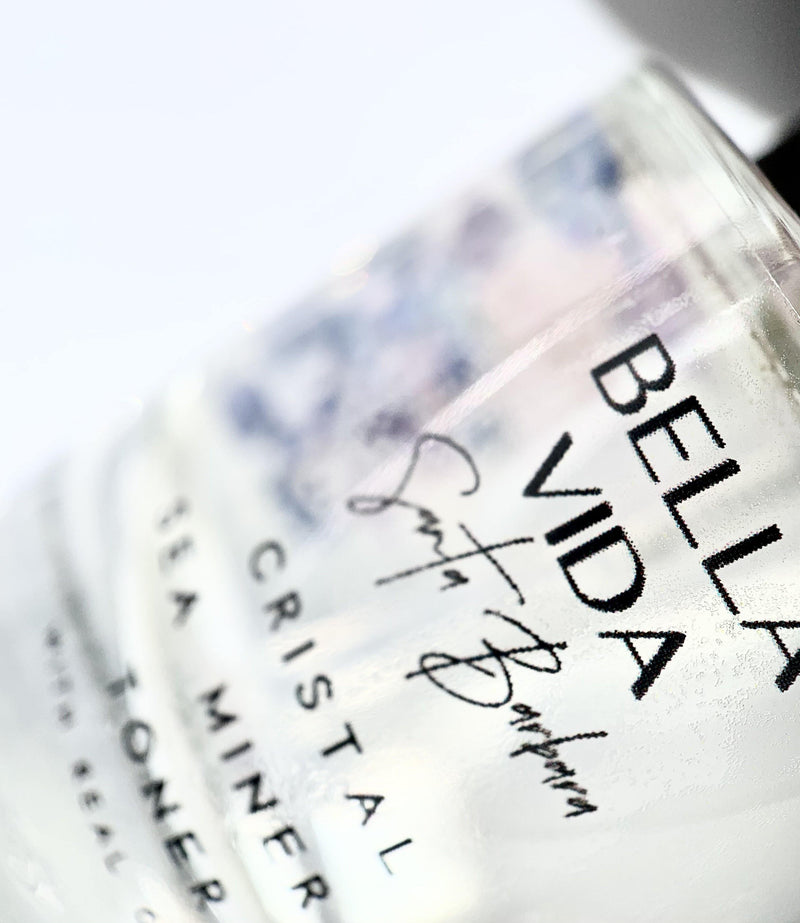 Cristal Sea Mineral Toner with real gemstones by Bella Vida Santa Barbara Sustainable Luxury clean skincare