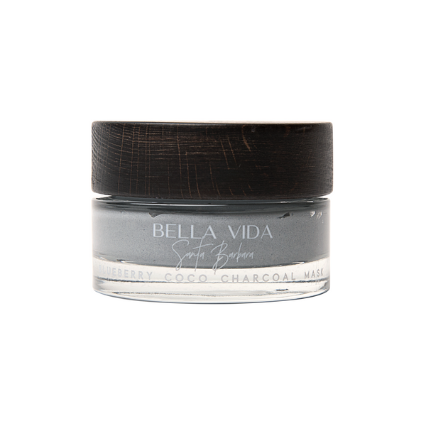 Blueberry Coco Charcoal Clay Mask - Bella Vida SB | Luxury Clean Skincare