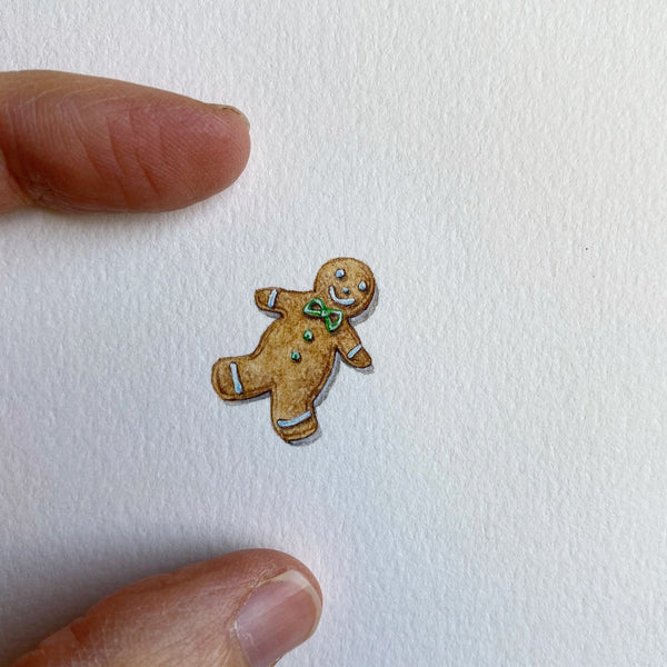 Miniature Painting of Gingerbread