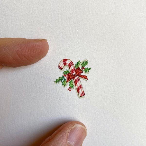 Miniature Painting of Candy cane