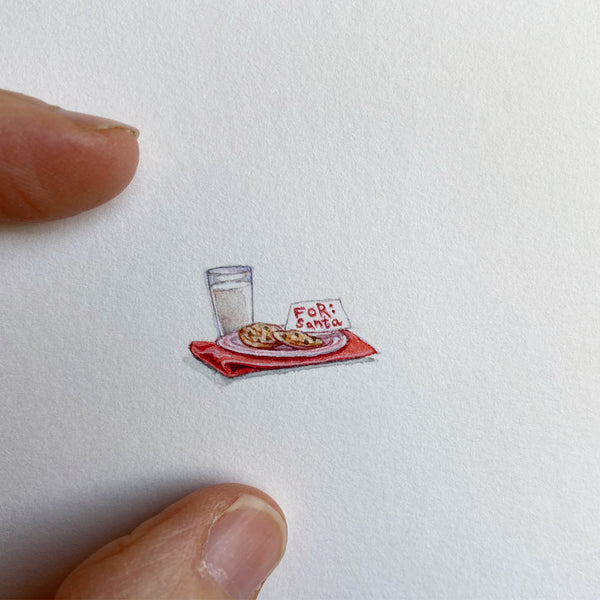 Miniature Painting of Santa Treats