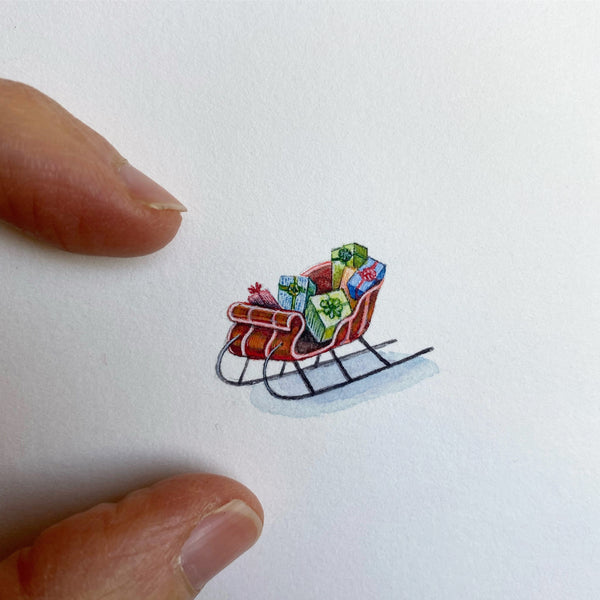 Miniature Painting of Sled