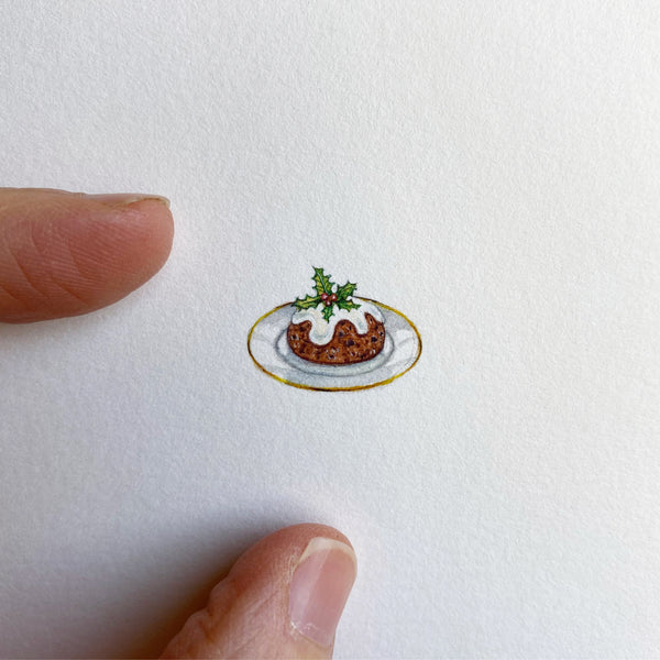 Miniature Painting of Fruitcake