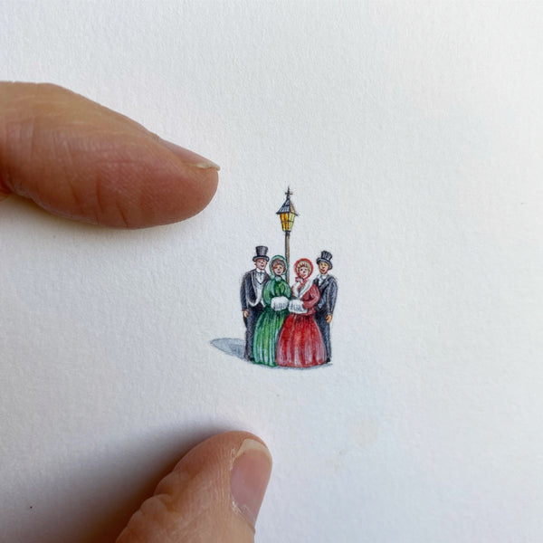 Miniature Painting of Carolers